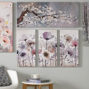 beautiful-sample-sparkle-wall-art-great-unit-picture-flower-blossom-unassemble-picture-artful-painted-creative-designing-wallmount